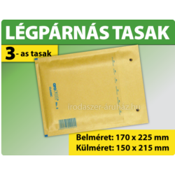 LÉGPÁRNÁS TASAK BARNA W3-as BORÍTÉK (1000 DB FELETT) C/13