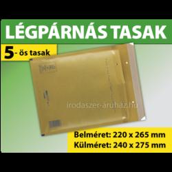 LÉGPÁRNÁS BORÍTÉK (BARNA) 5-ös TASAK (1000 DB ESETÉN)