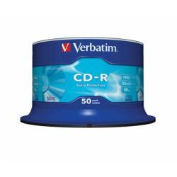 "CD-R lemez, 700MB, 52x, hengeren, VERBATIM ""DataLife"""