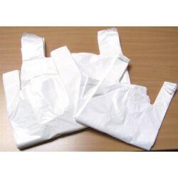 Ingvállas tasak, fehér, 28x8x50 cm (500 db)