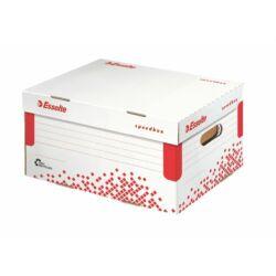 """Archiváló konténer, S méret, újrahasznosított karton, ESSELTE """"Speedbox"""", fehér"""