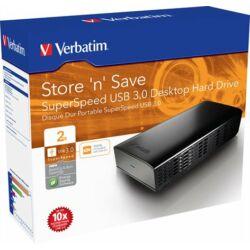 "3,5"" HDD (merevlemez), 2TB, USB 3.0, VERBATIM"