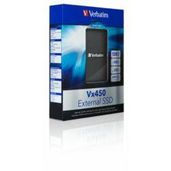 "SSD (külső memória), 128GB, USB 3.0 VERBATIM ""mSATA Vx450"", fekete"