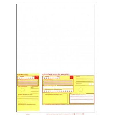 Csekkes számlalevél, készpénzátutalási megbízás (csekk, sárga csekkes) kézi /1000/