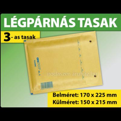 LÉGPÁRNÁS TASAK BARNA W3 BORÍTÉK C/13 1000 DARAB