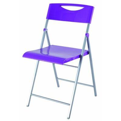 """Összecsukható szék, fém és műanyag, ALBA """"Smile"""" lila"""