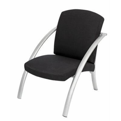 """Ügyfélváró szék, fém és szövet, ALBA """"Nova1"""", fekete"""