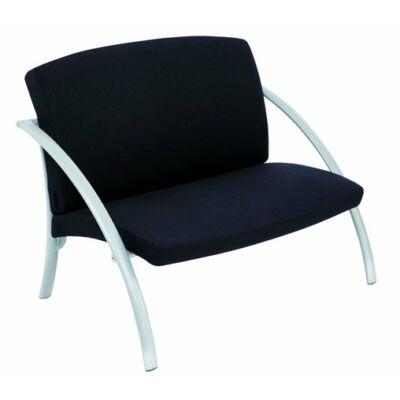 """Ügyfélváró szék, fém és szövet, ALBA """"Nova2"""", fekete"""