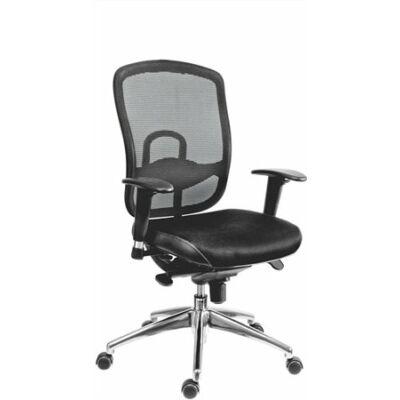 """Főnöki szék, szövetborítás,fejtámla nélkül, hálós háttámla, """"Oklahoma"""", fekete"""
