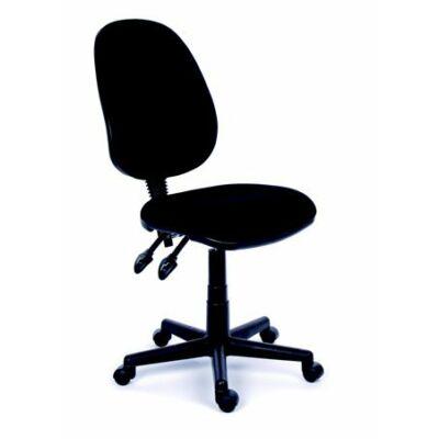 """Irodai szék, fekete szövetborítás, fekete lábkereszt, MAYAH """"Happy Plus"""""""