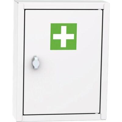 Fémszekrény, gyógyszer és kötszer tartó, 45x35x11 cm