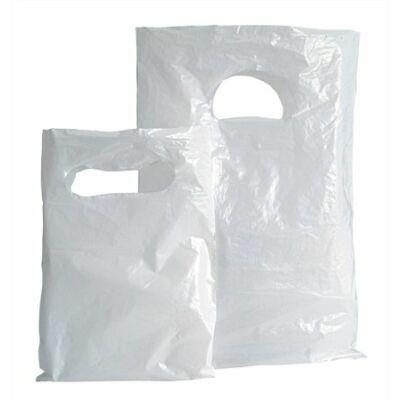Piskótafüles tasak, fehér, 15x20 cm (100 db)
