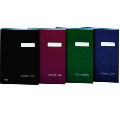 Aláírókönyv, A4, 19 elválasztó lappal, karton, DONAU, fekete