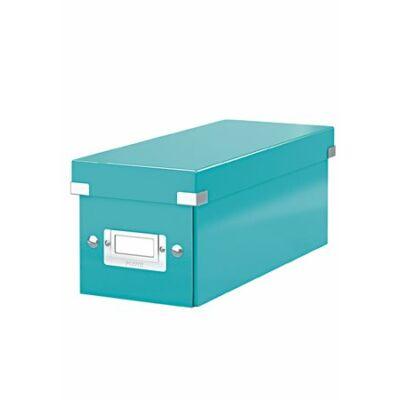 """CD tároló doboz, lakkfényű, LEITZ """"Click&Store"""", jégkék"""