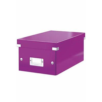 """DVD tároló doboz, lakkfényű, LEITZ """"Click&Store"""", lila"""