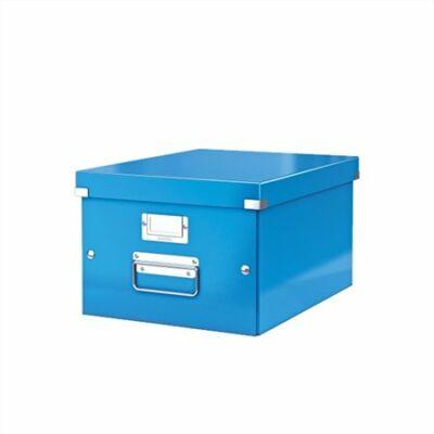 """Irattároló doboz, A4, lakkfényű, LEITZ """"Click&Store"""", kék"""