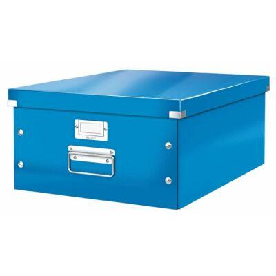 """Irattároló doboz, A3, lakkfényű, LEITZ """"Click&Store"""", kék"""
