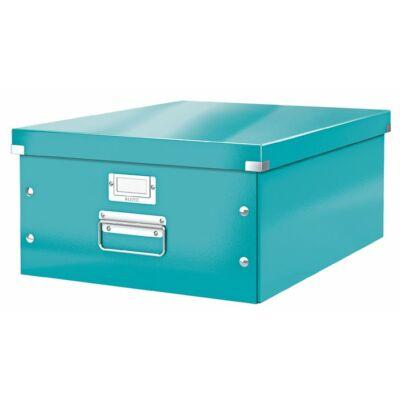 """Irattároló doboz, A3, lakkfényű, LEITZ """"Click&Store"""", jégkék"""