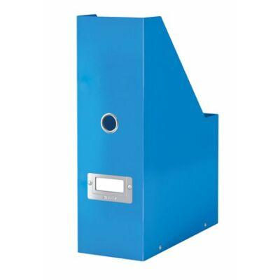 """Iratpapucs, PP/karton, 95 mm, lakkfényű, LEITZ """"Click&Store"""", kék"""