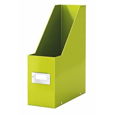 """Iratpapucs, PP/karton, 95 mm, lakkfényű, LEITZ """"Click&Store"""", zöld"""