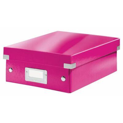 """Tárolódoboz, rendszerező, PP, karton, S méret, LEITZ """"Click&Store"""", rózsaszín"""