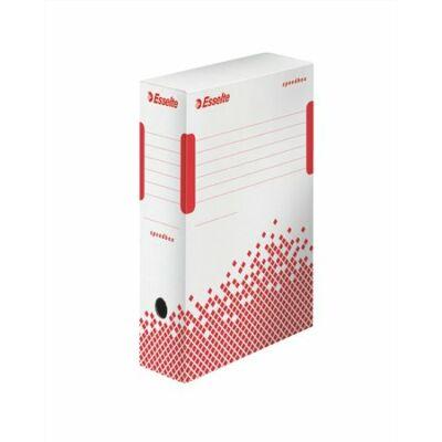"""Archiváló doboz, A4, 100 mm, újrahasznosított karton, ESSELTE """"Speedbox"""", fehér"""