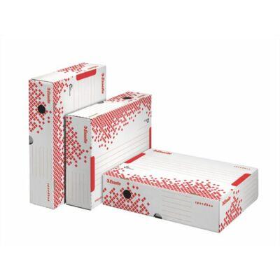 """Archiváló doboz, A4, 80 mm, újrahasznosított karton, felfelé nyíló, ESSELTE """"Speedbox"""""""