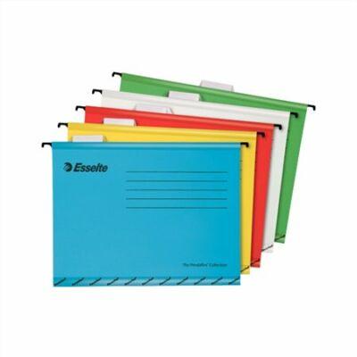 """Függőmappa, újrahasznosított karton, A4, ESSELTE """"Classic"""", vegyes színek 10 darab"""