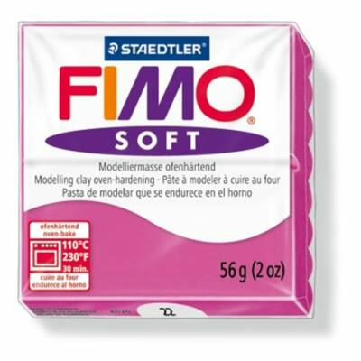 "Gyurma, 56 g, égethető, FIMO ""Soft"", málna"