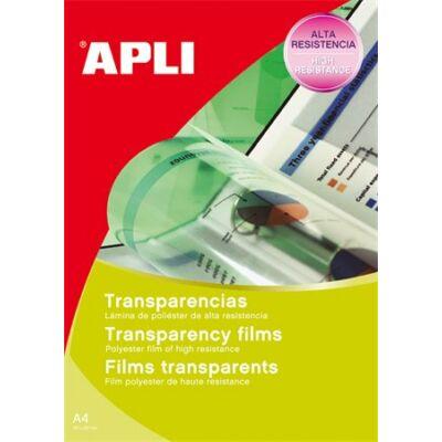 Fólia, írásvetítőhöz, A4, fénymásolóba, adagolóba tölthető, APLI (100 lap)