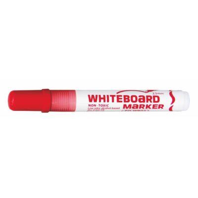 "Táblamarker, 2,5 mm, kúpos, FLEXOFFICE ""WB02"", piros"