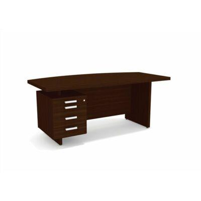 """Vezetői íróasztal, balos, 180x90 cm, MAYAH """"Grand GR-1"""", dió"""