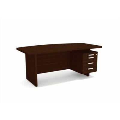 """Vezetői íróasztal, jobbos, 180x90 cm, MAYAH """"Grand GR-1"""", dió"""