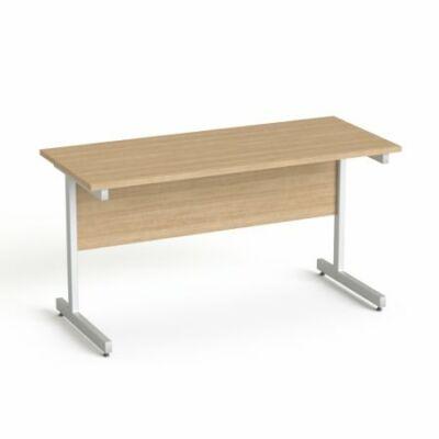 """Íróasztal, szürke fémlábbal, 140x70 cm, MAYAH """"Freedom SV-26"""", kőris"""