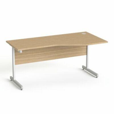 """Íróasztal, íves, jobbos,  szürke fémlábbal, 160x80 cm, MAYAH """"Freedom SV-29"""", kőris"""