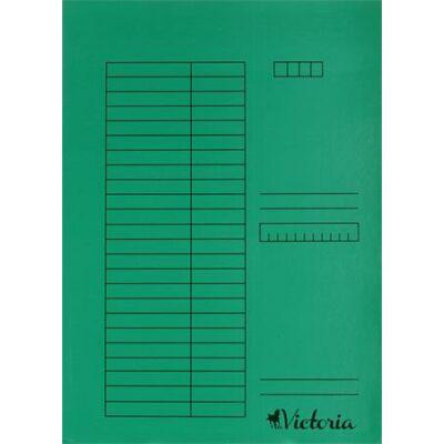 Gyorsfűző, karton, A4, ZÖLD (5db)