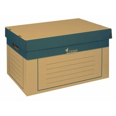 Archiváló konténer, 320x460x270 mm, karton, VICTORIA, natúr 2 darab