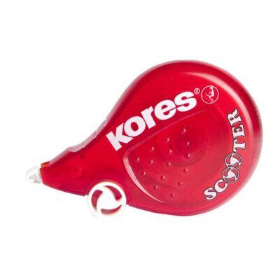 "Hibajavító roller, 4,2 mm x 8 m, KORES ""Scooter"", piros"