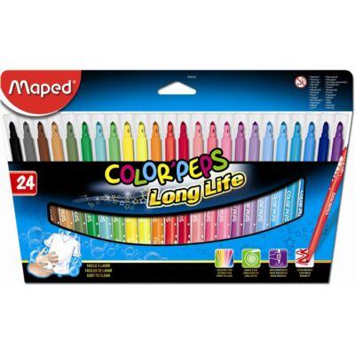 """Filctoll készlet, mosható, MAPED """"Color`Peps"""", 24 különböző szín"""