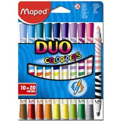 """Filctoll készlet, mosható, MAPED """"Color`Peps Duo"""", 20 különböző szín"""