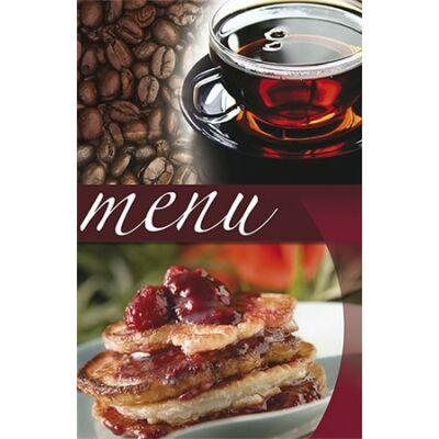 """Étlaptartó, A5, PANTA PLAST """"Café"""" , kávé-tea-sütemény"""