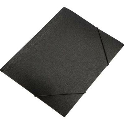 """Gumis mappa, 15 mm, PP, A4, PANTA PLAST """"Simple"""", metál fekete"""