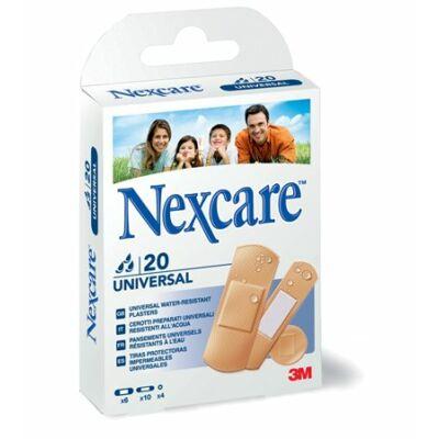 """Sebtapasz, vízálló, általános, vegyes méret, 20 db, 3M """"Nexcare Universal"""" ( 20 db / doboz )"""