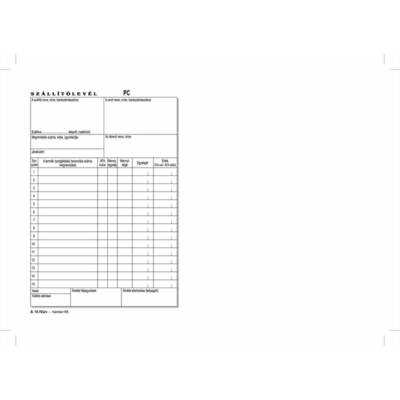 Szállítólevél, 25x3 lapos, A5, B.10-70