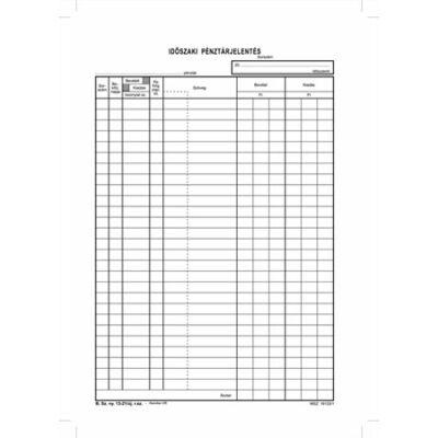 Időszaki pénztárjelentés 25x4 lap A4 B.13-21
