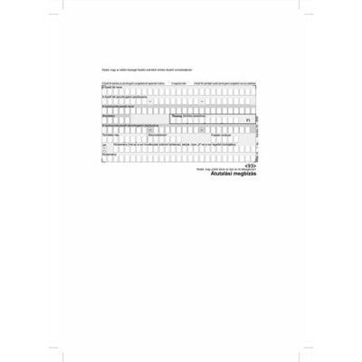 """Nyomtatvány, átutalási megbízás, kézi, 500x2, A6, VICTORIA """"PFNY 11"""""""
