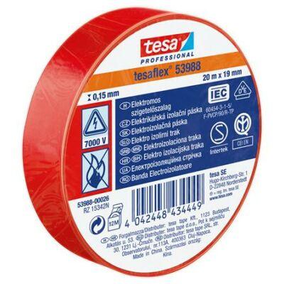 """Szigetelőszalag, 19 mm x 20 m, TESA """"Professional"""", piros"""