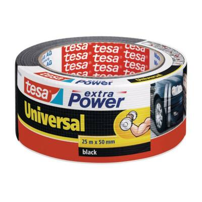 """Ragasztószalag, 50 mm x 25 m, TESA """"extra Power"""", fekete"""