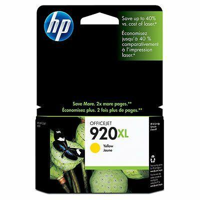 CD974AE Tintapatron OfficeJet 6000, 6500 nyomtatókhoz, HP 920xl sárga, 700 oldal (eredeti)