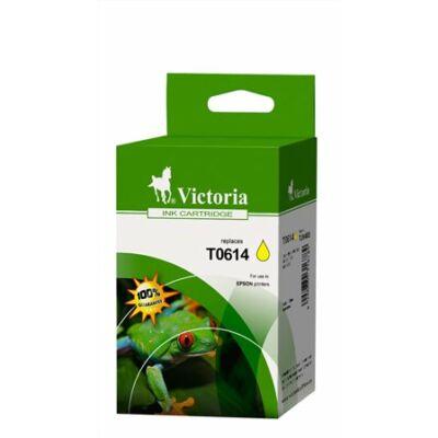 T0614 Tintapatron Stylus D68, D88, D88PE nyomtatókhoz, VICTORIA sárga, 8ml (kompatibilis)